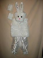 """Детский карнавальный костюм """"Белый Заяц"""" для детей от 3-х до 7-ми лет"""