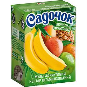 Сок Садочок мультифруктовый 0,2л