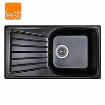 Кухонная гранитная мойка FOSTO 81x46 SGA-420, фото 2