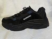 Мужские кроссовки Balenciaga Triple s черные, фото 1