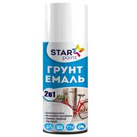 """Эмаль-грунт 2 в 1 аэрозоль """"STAR Paint"""" чёрный 400 мл."""