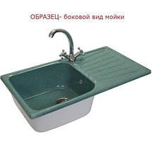 Кухонная гранитная мойка FOSTO 81x46 SGA-210 олово, фото 3