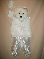 """Детский карнавальный костюм """"Белый медведь"""" для детей от 2-х до 5-ти лет"""