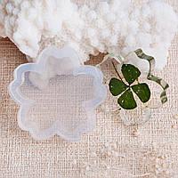 Форма для эпоксидной смолы, Молд, Силиконовый, Цветок, Белый, 32 мм x 31 мм