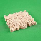 Деревянная накладная розетка. Мебельный декор.Код Р10, фото 2