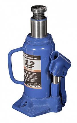 Домкрат гидравлический бутылочный 12 т, 210-400 мм, фото 2