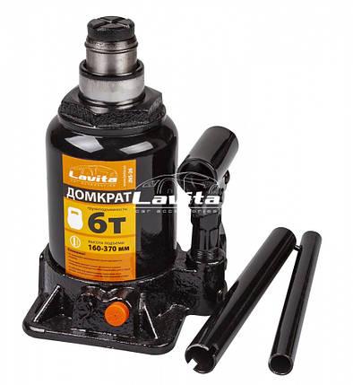 Домкрат гидравлический бутылочный, 6 т, 160-370 мм, фото 2