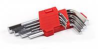 Набор ключей шестигранных L-образных 9 шт., 1.5-10 мм, стандартной длины