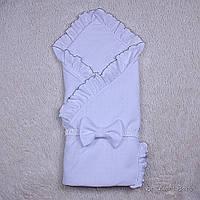 Белый летний конверт-плед на выписку Нежность