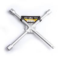 """Ключ баллонный крестообразный усиленный 17x19x21x1/2"""" D=14 мм x 14"""" серый"""