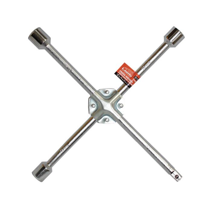 """Ключ баллонный крестообразный усиленный 17x19x21x1/2"""" D=14 мм x 14"""" хромированный"""