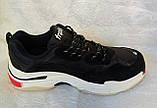 Мужские кроссовки Balenciaga Triple s черные c белым, фото 4
