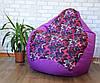 Кресло мешок Exclusive, кресло Груша, бескаркасный пуф, бескаркасная мебель Loft, мебель для кафе, фото 2