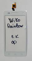Сенсор (тачскрін) для Wiko Rainbow білий