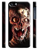 Чехол  на айфон 5/5s  черепа зомби ужасы