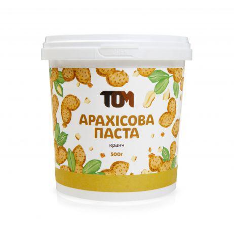 Арахисовая паста ТОМ - Кранч (500 гр)