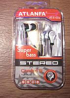 Наушники ATLANFA Super Bass AT-1026 ( вакуумные наушники )