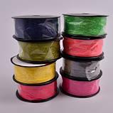 Стрічка декоративна з тафти жатка Колір фуксія, фото 2