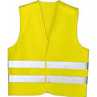 Жилет аварийный, светло-желтый, XL