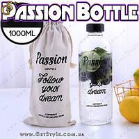 "Спортивная бутылочка (1л.) - ""Passion Bottle"" + чехол для хранения!, фото 1"