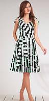 Платье Golden Valley-4479 белорусский трикотаж, черный с бирюзой, 42