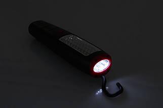 Лампа переносная светодиодная, 37 led; питание от 3 ААА батарейки; крючок, магнит, фото 2