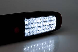 Лампа переносная светодиодная, 37 led; питание от 3 ААА батарейки; крючок, магнит, фото 3