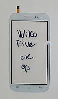 Сенсор (тачскрін) для Wiko Cink Five original білий