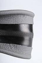 Чехол на руль кожаный серый с перфорацией 4L8-4, фото 3