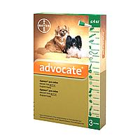 Bayer ADVOCATE до 4 кг - Байер АДВОКАТ - комплексное средство от паразитов для собак, 1 пипетка