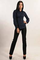 Брюки женские черные узкие классические стрейч-костюмная ткань