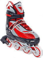 Коньки роликовые раздвижные Kepai F1-K03 (красный)