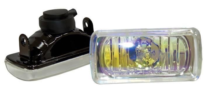 Фара противотуманная 100x45 мм, галогеновая, стекло радужное, 2 шт.