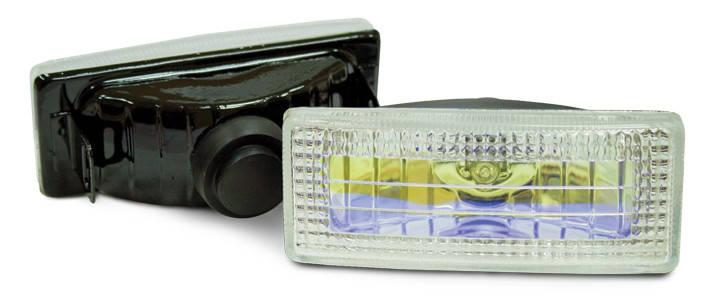 Фара противотуманная 120x50 мм, галогеновая, стекло радужное, 2 шт., фото 2