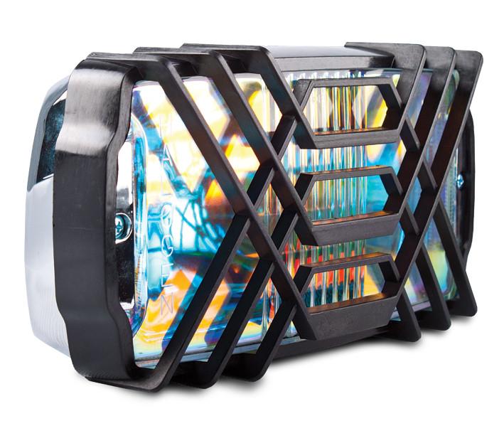 Фара противотуманная 236x130 мм, галогеновая, стекло радужно-голубое, 1 шт.