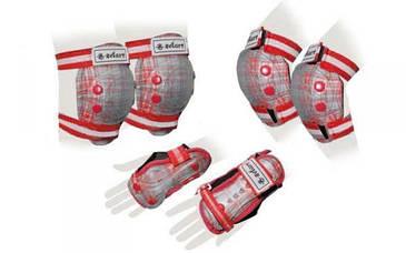 Защита для роллеров Zelart Sport SK-4678R Candy (красная)