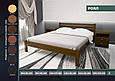 """Кровать деревянная """"Роял"""" 1,8 ольха, фото 2"""