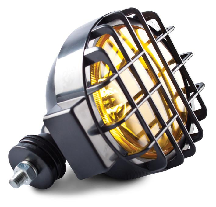 Фара противотуманная D=166 мм, галогеновая, стекло желтое, 1 шт.