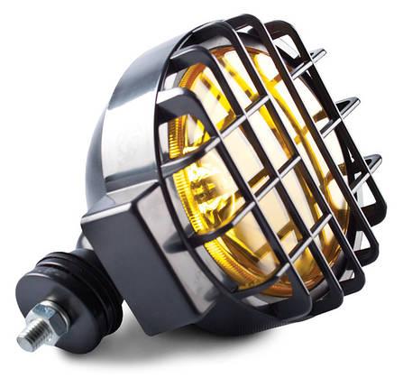 Фара противотуманная D=166 мм, галогеновая, стекло желтое, 1 шт., фото 2