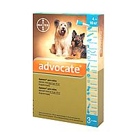 Bayer ADVOCATE от 4 до 10 кг - Байер АДВОКАТ - комплексное средство от паразитов для собак, 1 пипетка