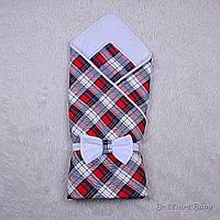 Летнее одеяло-конверт на выписку для мальчика Scotland
