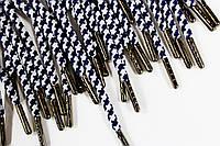 Шнурки 5мм круглыес металлическим наконечником (блек-никель), фото 1
