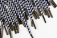 Шнурки 5мм круглыес металлическим наконечником (блек-никель)