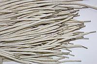 Шнурки круглые 4мм белый+золото, фото 1