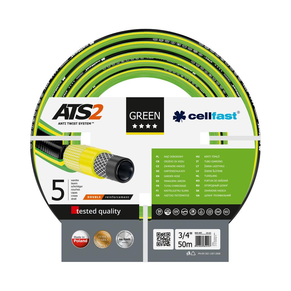Аксессуары для водоснабжения, полива Cellfast 15-121 (GREEN ATS 3/4'' 50m)