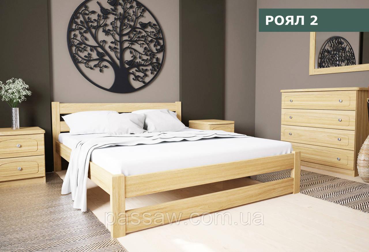 """Кровать деревянная """"Роял-2"""" 1,4 сосна"""