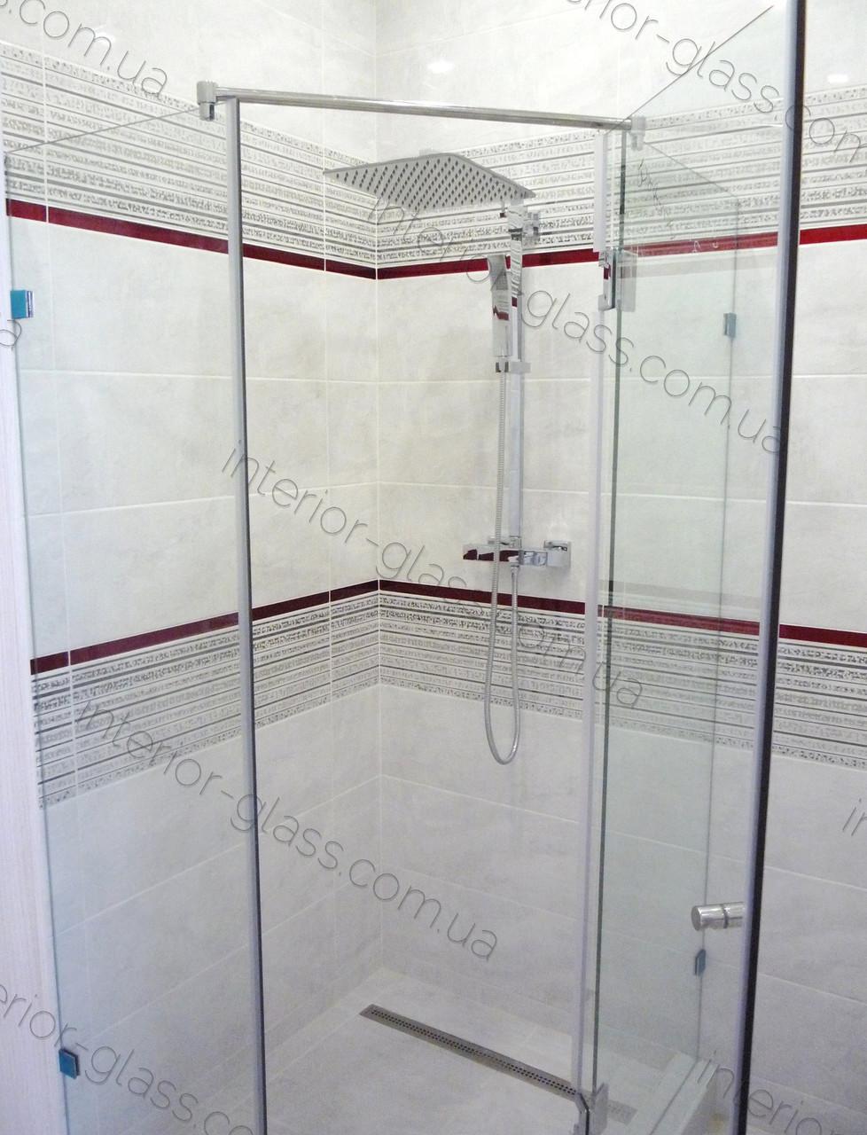 Душевая кабина Трапеция 1м*1м, в прозрачном стекле