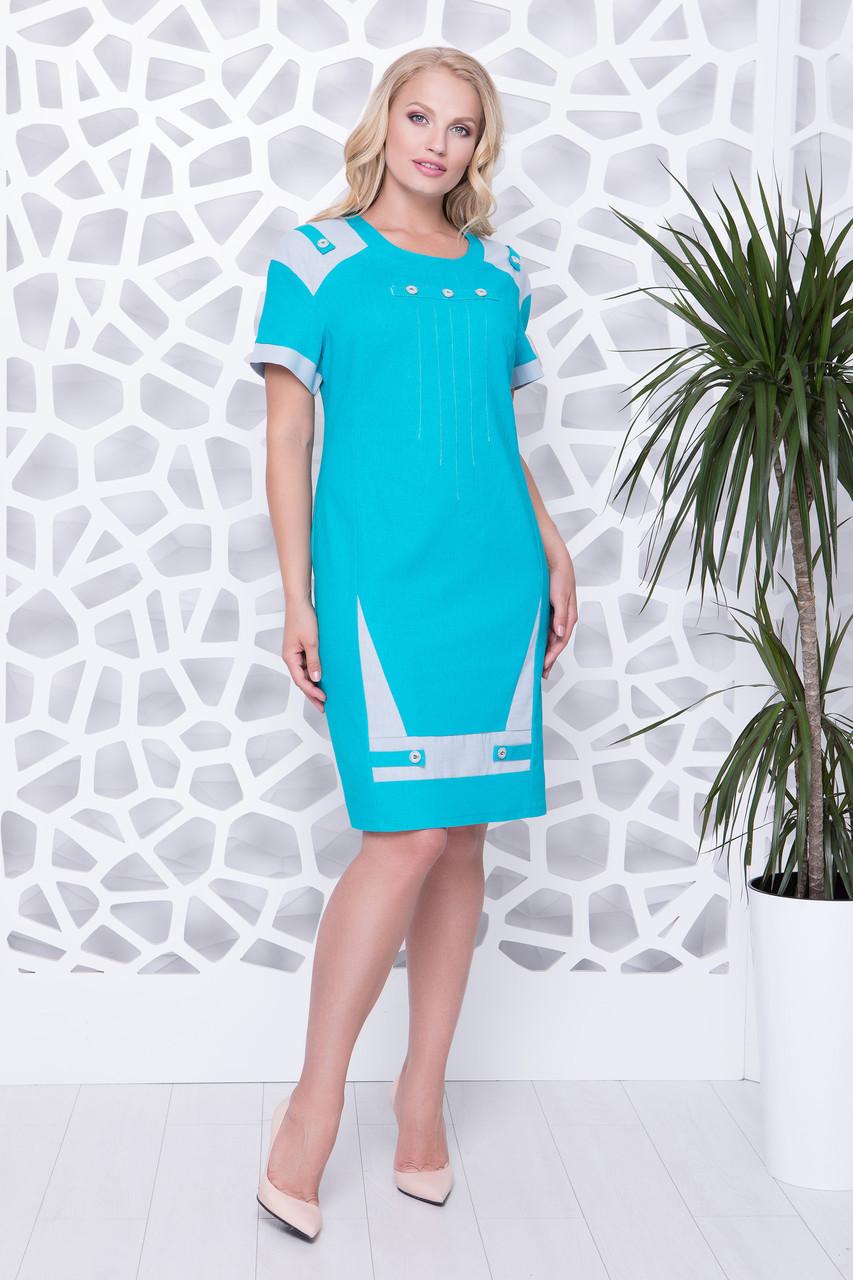 a14109b4d7b Купить Летнее льняное платье больших размеров 719241244 - Грация   Стиль