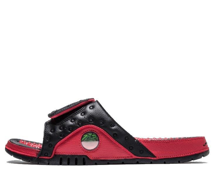 """Шлепанцы Air Jordan Hydro 13 """"Black/Red"""" Арт. 2837"""