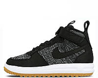 "Кроссовки Nike Lunar Force 1 Flyknit Workboot ""Black/White/Grey"" Арт. 2634"